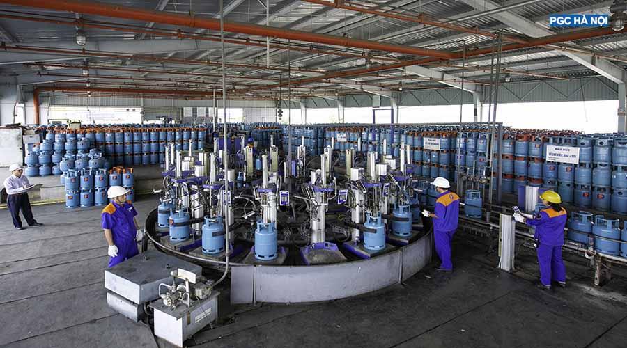 Dây chuyền bình gas Petrolimex Hà Nội